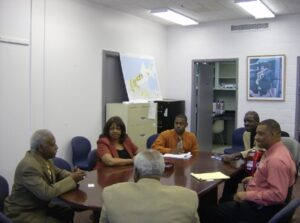 Pastor Camelia advocates with the City New Orleans Staff for local NOLA pastors.