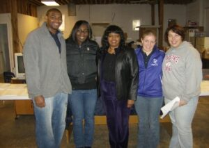 Pastor Camelia with volunteer team of college students who came to NOLA to help with clean up during their spring break.